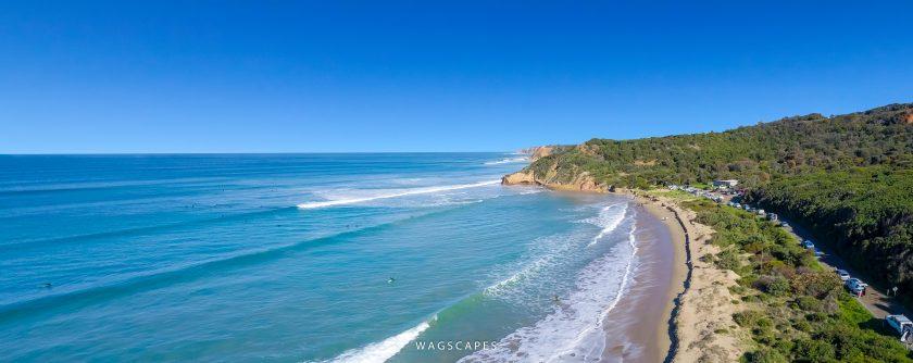 Urquhart Bluff Surfing, Victoria Drone